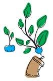 Gör träd med sprutmålningsfärg Stock Illustrationer