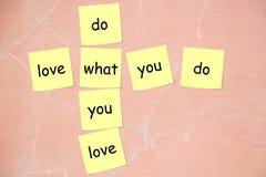 Gör vad du älskar Arkivfoton