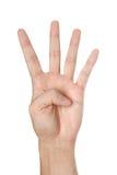 göra en gest den isolerade handen Royaltyfria Foton