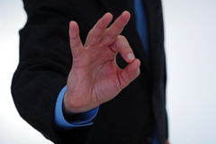 Göra en gest det reko tecknet Royaltyfri Fotografi
