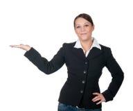göra en gest för affärskvinnor royaltyfri fotografi