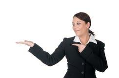 göra en gest för affärskvinnor arkivfoton