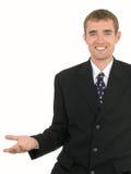 göra en gest för affärsman royaltyfri bild