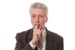 göra en gest för affärsman tum Arkivbild