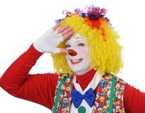 göra en gest för clown Royaltyfri Bild