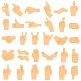 Göra en gest för hand royaltyfri illustrationer