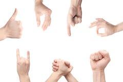 göra en gest händer Arkivbild
