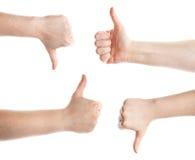 göra en gest händer Arkivbilder