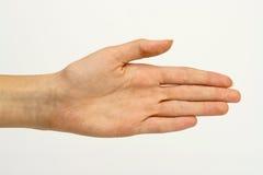 göra en gest handmanicurekvinna Fotografering för Bildbyråer