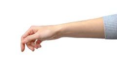 göra en gest handmanicurekvinna Royaltyfri Foto