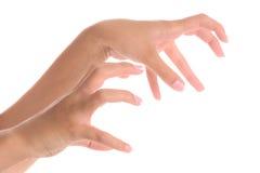 göra en gest handskräck Arkivbild