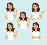 göra en gest kvinnabarn stock illustrationer
