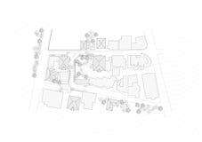 göra en skiss av det stads- planet stock illustrationer