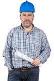 göra en skiss av konstruktionsholdingarbetaren Fotografering för Bildbyråer