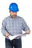 göra en skiss av konstruktionsholdingarbetaren Royaltyfria Foton