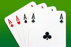 göra ett ess på poker arkivbilder