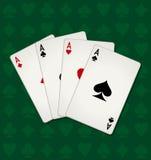göra ett ess på poker Stock Illustrationer