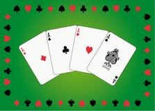 göra ett ess på poker royaltyfri illustrationer