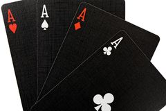 göra ett ess på poker Royaltyfria Foton