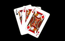 göra ett ess på svart kortpoker två för bakgrund Royaltyfri Foto