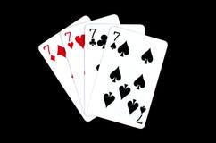 göra ett ess på svart kortpoker två för bakgrund Royaltyfri Fotografi