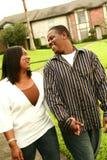 göra för afrikansk amerikanpar royaltyfri bild