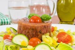göra gelé av blandade grönsaker för meat arkivbilder