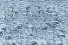 Göra gelé av textur, disketta bollar för silikoner av blå gelé stock illustrationer