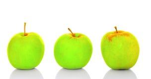 Göra grön äpplen Fotografering för Bildbyråer