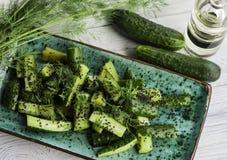 Göra grön gurkor Royaltyfri Fotografi