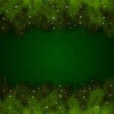 Göra grön julbakgrund Arkivfoto