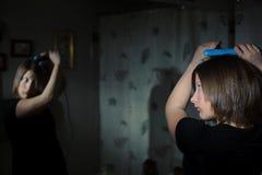 göra hår Royaltyfri Bild