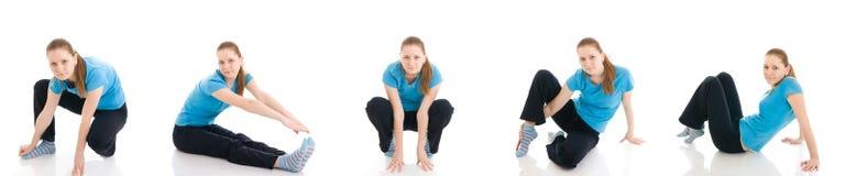 göra isolerat kvinnabarn för övning fem Arkivbild