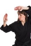 göra karatekvinnan royaltyfria bilder