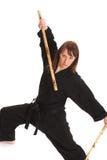göra karatekvinnan royaltyfria foton
