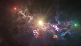 Göra mellanslag bakgrund, att glo, fördunkla, och kulöra stjärnor royaltyfria bilder