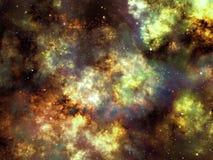 Göra mellanslag bakgrundsillustrationen med nebulosa- och stjärnaklungan Royaltyfri Illustrationer