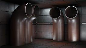 Göra mellanslag miljön som är klar för komp av dina tecken renderin 3D Royaltyfria Foton