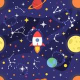 Göra mellanslag modellen med stjärnor, den mjölkaktiga vägen, konstellationer, zodiak, nebulosan, planeter, månen, jord, det svar Royaltyfria Foton