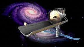 Göra mellanslag teleskop i omlopp Min äga design stock illustrationer