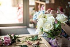 göra mode den moderna buketten av blomman Arkivbild