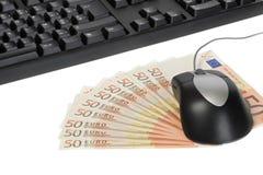 göra pengar online- royaltyfria bilder
