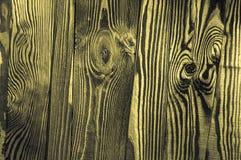 Göra perfekt gult gråaktigt gulaktigt ojämnt gammalt mörkt ljust trä Arkivbilder