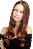 Göra perfekt hår Royaltyfri Fotografi