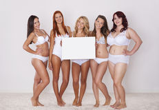 Göra perfekt kroppar i varje format Royaltyfria Foton