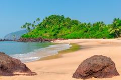 Göra perfekt stranden för rekreation Arkivfoto