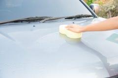 Göra ren bilen arkivfoton