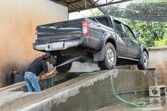 Göra ren bilen Royaltyfri Fotografi