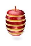 göra sammandrag äppleskivor Arkivfoton