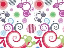göra sammandrag bakgrund colorfully Royaltyfria Bilder